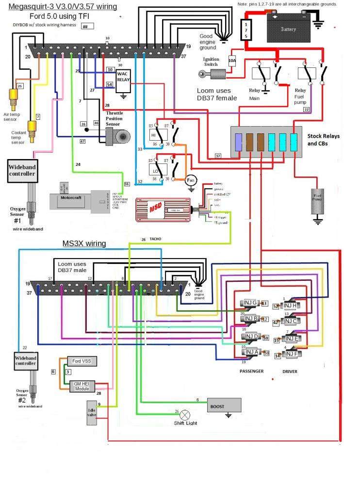 [DIAGRAM_38IU]  MS3X wiring diagram. Take a look | Ford Mustang Forums | Megasquirt V3 Wiring Diagram |  | Corral.net