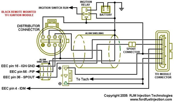 1994 - 1995 DiSTRIBUTOR, TFI and related wiring in a fox. | Page 2 | Ford  Mustang ForumsCorral.net