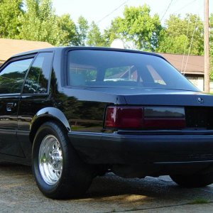 90 coupe rear view